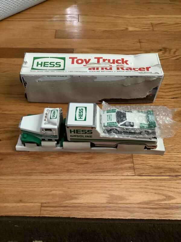 Vintage 1991 Hess Toy Truck And Racer  With Box