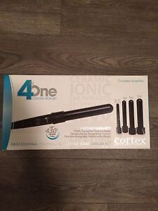Like new curling iron wand - various barrel size attachments
