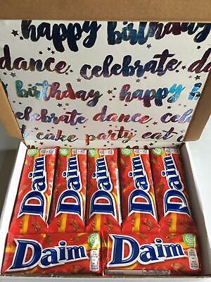 Daim Chocolate Happy Birthday Present Hamper Gift Box 7 x Bars Daim...