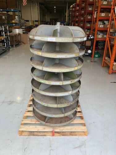 """Rotabin Vintage Rotating Storage Shelving, Revolving Shelves, 34"""" Diameter"""