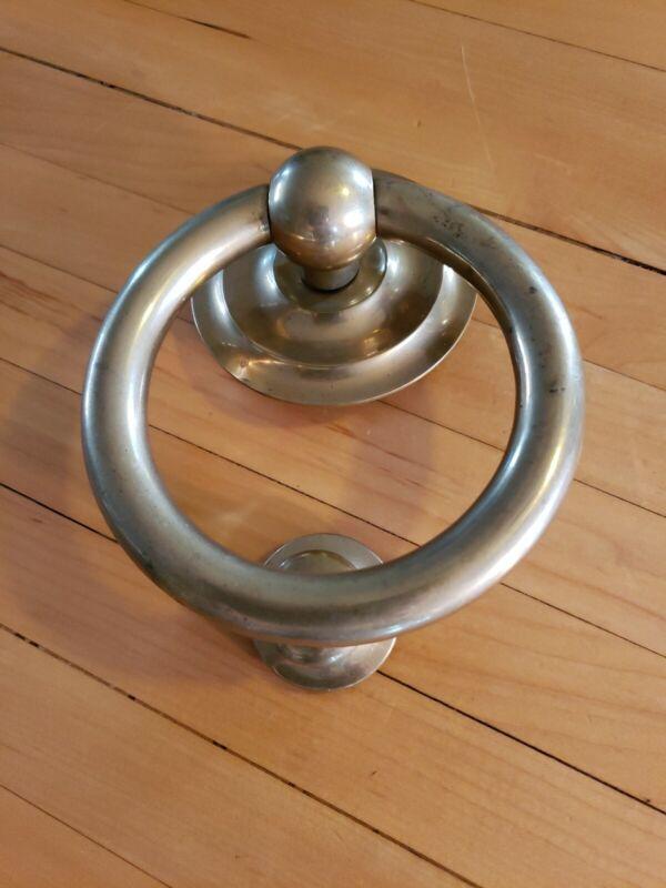 Vintage Heavy Brass Door Knocker - Architectural Hardware