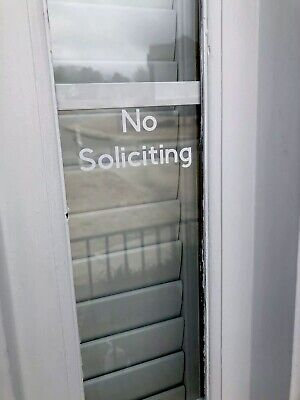 NO SOLICITING Sign Decal Sticker Vinyl for Door Window Wall Any Color