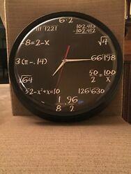 CafePress Math Wall Clock Of Mathematics Wall Watch-Never used!