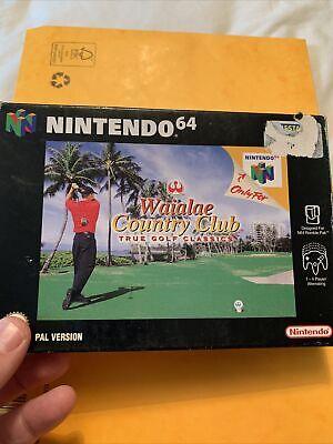 Waialae Country Club True Golf Classics Nintendo 64 N64 game Complete Retro