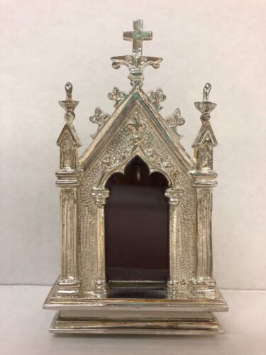 + Silver Plated French Style Reliquary for your Relic + (#7S) + Church + Saint