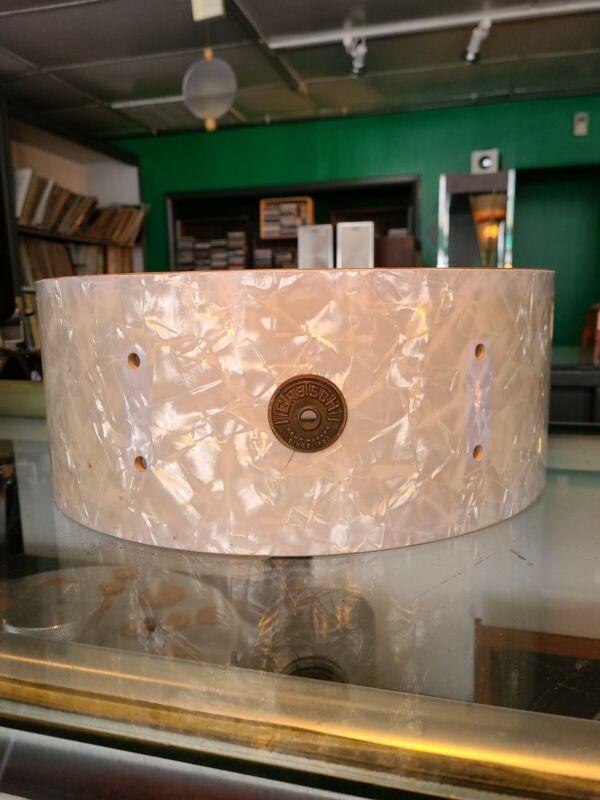 "Gretsch Round Badge 14""  6 lug White Pearl Shell"