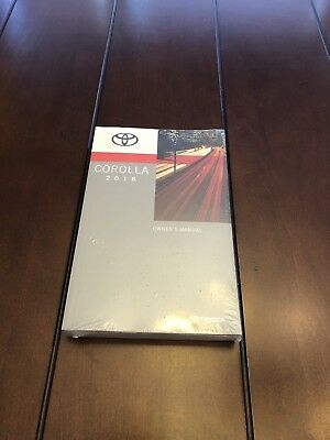 2018 TOYOTA COROLLA FACTORY OWNERS MANUAL NEW SEALED FREE SHIPPING GENUINE OEM - Genuine Owners Manual