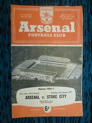 1957 FA CUP - ARSENAL v STOKE CITY - 3rd Round