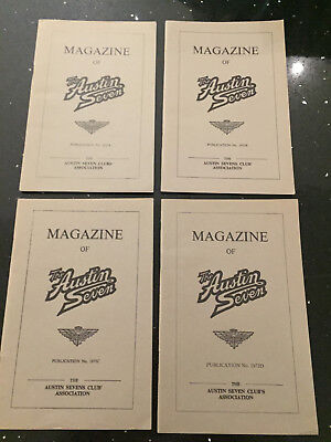 Magazine of the Austin Seven Club 1973  A, B, C and D Copies