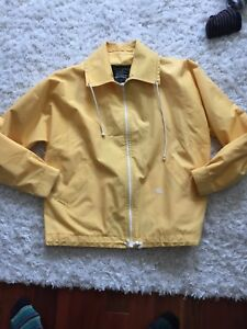 Vintage Burberry for Harrods yellow coat