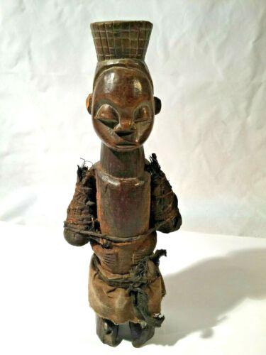 MALE  FIGURE CARVED WOOD ORISHA YORUBA NIGERIA W. AFRICA 20TH C.