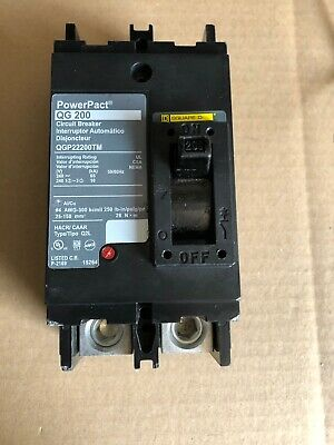 Box Qgp22200tm Square D Circuit Breaker Qg200 Power Pact 2 Pole 200 Amp