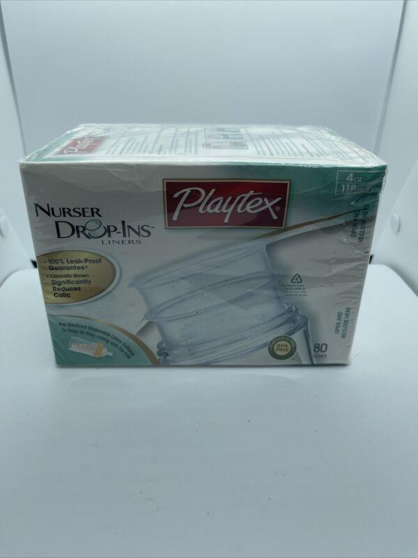 Playtex Drop in Liners for 4 oz Nurser Bottles 80 Count Sealed Package