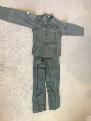WWIl Uniform-HBT Herringbone OD7 Army Fatigue - (Jacket 36R  &    Pants-(30 32).