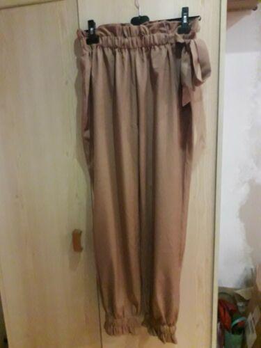Pantalon fluide taille Élastique marron camel taille l shein
