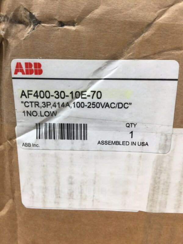 NEW ABB AF400 30 10E 70 CONTACTOR 400 A 3P FREE 2 DAY AIR HOUSTON STOCK