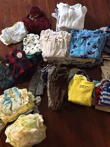 Lot of baby boy clothes - newborn and 0-3 months