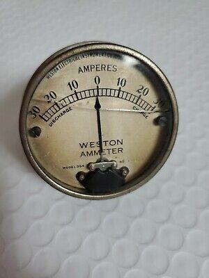 Original Weston Ammeter Amperes - Model 354 -1220116