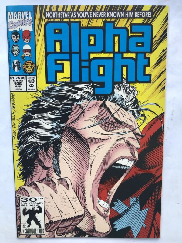 ALPHA FLIGHT #106 NORTHSTAR COMES OUT AS GAY 1St PRINT 1992