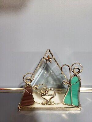 Stained Glass Nativity (Stained Glass Nativity Napkin Holder/ Decor New 4 1/2