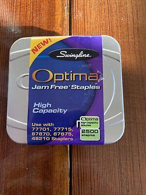 Swingline Optima High Capacity Premium Jam Free Staples 2500 In A Tin Case