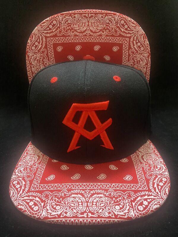 Canelo Alvarez Hat Bandana red brim BOXING CHAMPION SNAPBack Black Rare