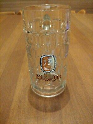 Vintage Bitburger Pils 0.4l Rastal German Beer Clear Glass Mug with Handle