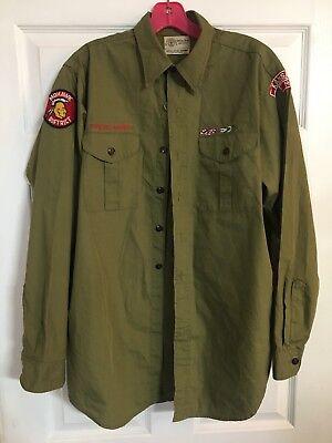 Vintage BSA Boy Scouts of America Shirt 60's ? Kansas City Mohawk