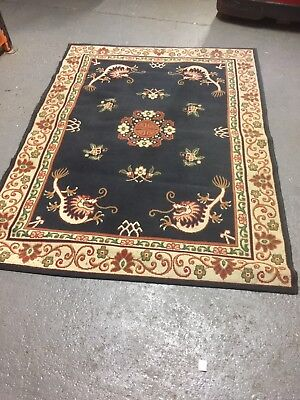HANDMADE TURKISH STYLE CARPET RUG 220 x 160 CM IN GOOD CONDITION