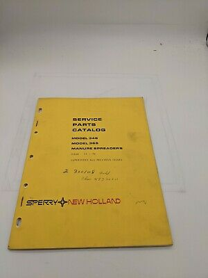 New Holland Service Parts Catalog 346 365 Manure Spreader 11-74