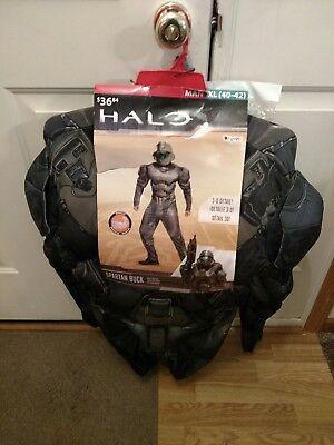 NEW Halo Spartan Buck Action Figure Halloween Costume Mask Muscles Mens XL 40-42 - Action Man Halloween