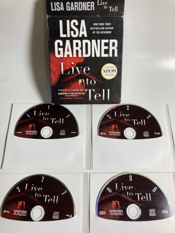 Audiobook 11-CD Unabridged Lisa Gardner Live to Tell Detective Mystery
