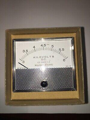 Western Electric Panel Meter Dc Kilovolts 3- 6 Ks-19651