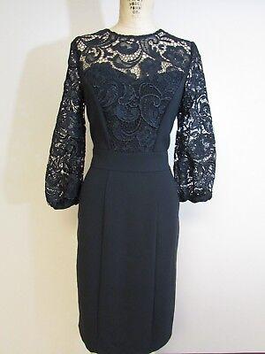 Nwt   Eva Mendes Black W Lace Sheath Cocktail Party Dress Size 4