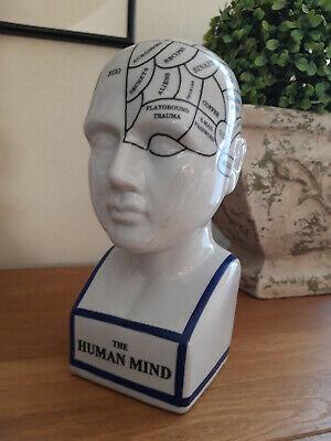 Phrenologie,Kopf,Büste 18x7x7 cm a.craquelePorzellan,Büste Gr.M The Human Mind