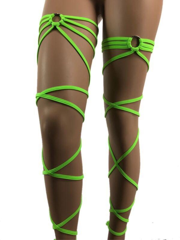 Rave Leg Wraps Exotic Dancewear Garter Gartini Rave Outfit Polewear ClubwearUV
