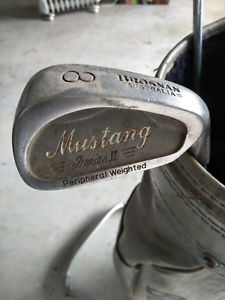 Brosnan golf bag and Brosnan mustang clubs