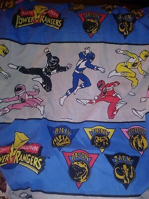 The Power Rangers Twin Fitted  Sheet Awesome Vintage  - Power Rangers Awesome