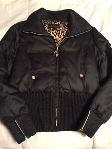 Black & Gold Baby Phat Coat