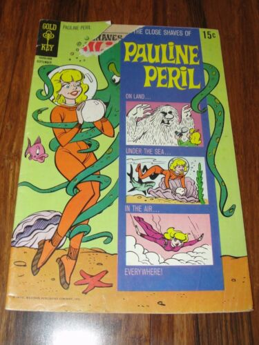 "GOLD KEY ""THE CLOSE SHAVES OF PAULINE PERIL"" #2 1970 COMIC BOOK"