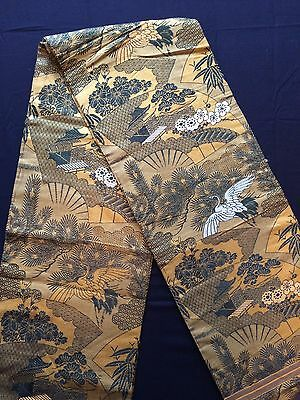 Vintage authentic Japanese fukuro obi for kimono, imported from Japan (I723)