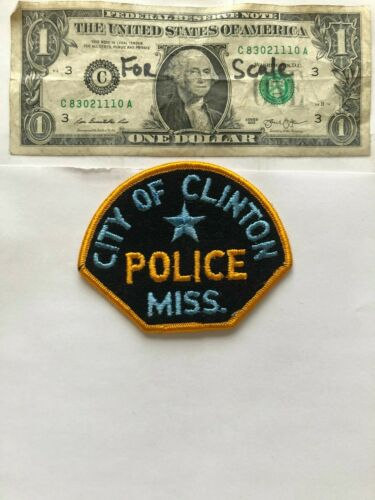 Very Rare Clinton Mississippi Police Patch Un-sewn great condition