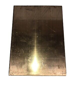 Bronze Commercial Bronze Sheet Plate Stock 6.75x9.25x.25thick