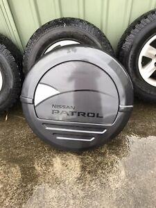 Nissan patrol gu y61 spare wheel cover