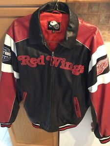 Detroit Red Wings New Mens Leather Jacket size L