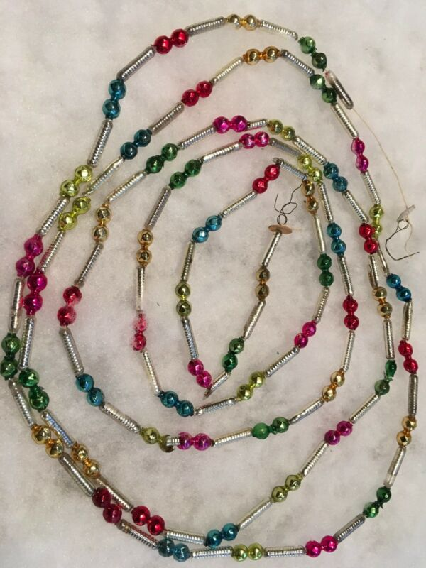 Fancy Vintage Mercury Glass Bead Feather Tree Garland Bead Shapes