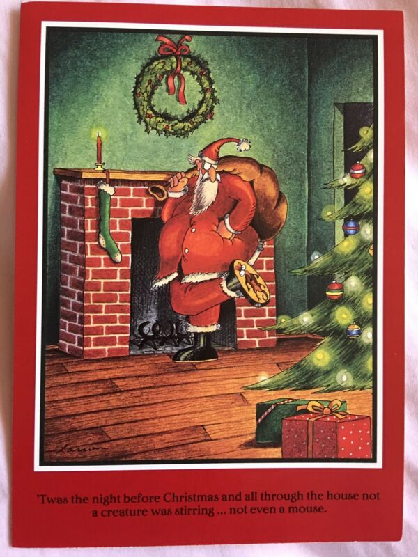 1988 The Far Side 'Twas The Night Before  Christmas Greeting Cards Gary Larson
