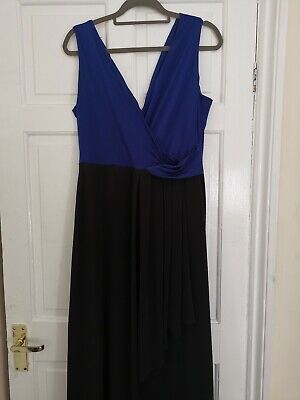 Beautiful Size 14 Blue & Black ISSA Gown