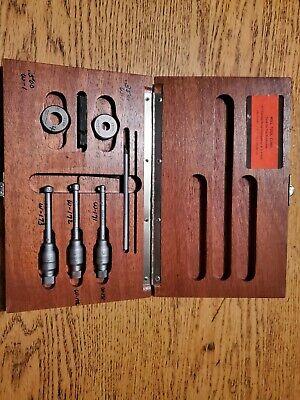 Brown Sharpe 0.275-0.500 Bore Micrometer Set Setting Rings Original Box