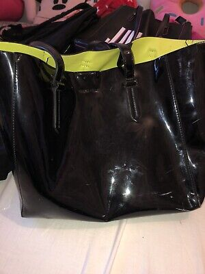 Kendall And kylie Black And Lime Green Bag